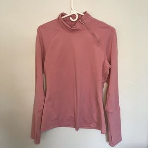 Yogalicious Women's Blush Pullover Top Exposed Zip